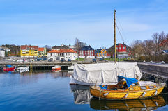 Larvikhaven in de lente, Noorwegen Royalty-vrije Stock Afbeelding