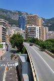 Larvotto处所看法在蒙地卡罗,摩纳哥 免版税库存图片
