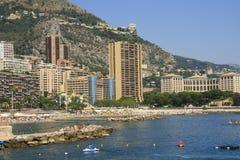 海滩larvotto摩纳哥 库存照片