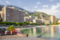 Larvotto beach in Monaco Royalty Free Stock Images