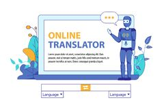 Larwy Sztuczna inteligencja dla Online przekładu ilustracji