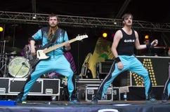 Lary Simmons & Rocky van Bree στη σκηνή Στοκ Φωτογραφίες