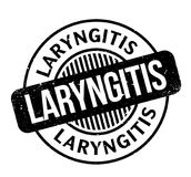 Laryngitis rubber stamp. Grunge design with dust scratches. Effects can be easily removed for a clean, crisp look. Color is easily changed Stock Image