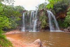Las奎瓦斯瀑布,玻利维亚 免版税库存图片