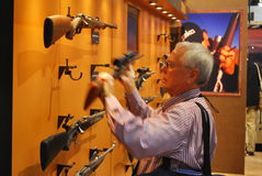 las射击显示维加斯 免版税库存照片