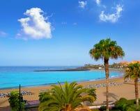 Las远景使肋前缘的阿德赫特内里费岛阿罗纳靠岸 免版税库存照片