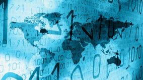 Las últimas noticias del mundo cibernético indican concepto del fondo de la tecnología de los gráficos stock de ilustración