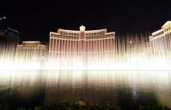 las фонтана казино bellagio показывают vegas Стоковые Фото