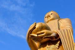 Las abejas jerarquizan o panal en la mano de Buda Fotografía de archivo libre de regalías