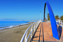 Las Acacias Beach coast in Malaga, Spain Royalty Free Stock Photography
