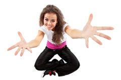 Las actitudes del bailarín con sus brazos se abren Foto de archivo libre de regalías