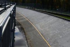 Las actividades bancarias del norte de Monza después de fuertes lluvias Fotografía de archivo libre de regalías
