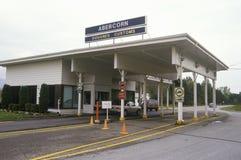 Las aduanas canadienses que construyen entre Richford, Vermont y Canadá fotografía de archivo