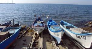 Las aguas azules del Mar Negro en el Burgas aúllan en Bulgaria Foto de archivo libre de regalías