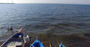 Las aguas azules del Mar Negro en el Burgas aúllan en Bulgaria Imágenes de archivo libres de regalías