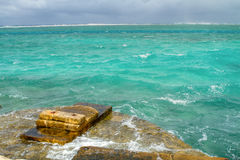 Las aguas preocupadas del centro turístico fotografía de archivo libre de regalías