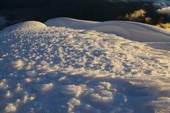 Las agujas del hielo formaron por el viento en Cotopaxi Foto de archivo libre de regalías