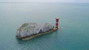 Las agujas en la isla del Wight del aire almacen de video