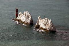 Las agujas, isla del Wight Imágenes de archivo libres de regalías