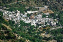 White Andalusian village of Pampaneira in Spain Stock Images