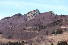 las altas montañas llamaron a SPITZ de Tonezza en Italia fotografía de archivo