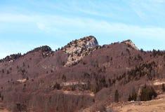 las altas montañas llamaron a SPITZ de Tonezza en otoño foto de archivo libre de regalías