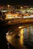 Las Americas. The night sea view of Las Americas (Tenerife, Canary Islands, Spain Royalty Free Stock Photo