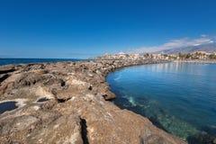 Las Americas coastline  in Adeje, Tenerife, Spain. Royalty Free Stock Image