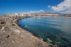 Las Americas coastline  in Adeje, Tenerife, Spain. Stock Image