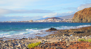 Las Americas and Los Cristianos towns Stock Images