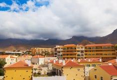 Las Americas nell'isola di Tenerife - canarino fotografia stock
