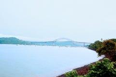 Las Americas Panama di Puente de fotografia stock libera da diritti