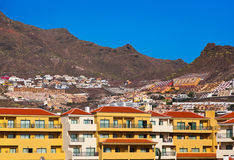 Las Amerika in het eiland van Tenerife - Kanarie Stock Fotografie