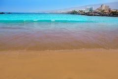Las Amerika setzen Adeje-Küste Strand in Teneriffa auf den Strand Stockfotografie