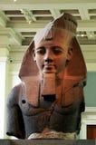 Las antigüedades egipcias Pasillo en British Museum en Londres imagen de archivo libre de regalías