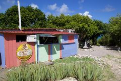 Las Antillas, el Caribe, Antigua, bahía larga, mamá Pasta's Imagenes de archivo