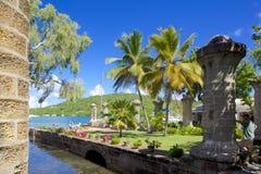 Las Antillas, el Caribe, Antigua, el astillero de Nelson, hogar del barco y desván de la vela Imagenes de archivo