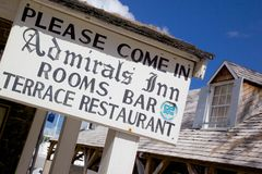 Las Antillas, el Caribe, Antigua, el astillero de Nelson, Inn Sign del almirante Fotos de archivo libres de regalías