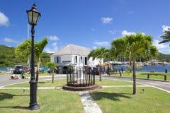 Las Antillas, el Caribe, Antigua, el astillero de Nelson, la oficina del tesorero Imagenes de archivo