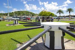 Las Antillas, el Caribe, Antigua, el astillero de Nelson, la oficina del tesorero Imagen de archivo libre de regalías