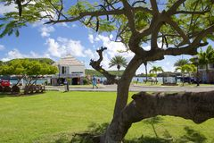 Las Antillas, el Caribe, Antigua, el astillero de Nelson, la oficina del tesorero Fotos de archivo libres de regalías