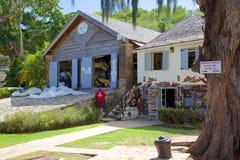 Las Antillas, el Caribe, Antigua, el astillero de Nelson, la SIERRA Pit Shed Foto de archivo libre de regalías