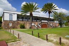 Las Antillas, el Caribe, Antigua, el astillero de Nelson, los cuartos del oficial Foto de archivo