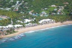 Las Antillas, el Caribe, Antigua, opinión Carlisle Bay Fotos de archivo