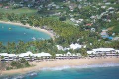 Las Antillas, el Caribe, Antigua, opinión Carlisle Bay Fotos de archivo libres de regalías