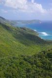 Las Antillas, el Caribe, Antigua, opinión Sugar Loaf Hill Foto de archivo