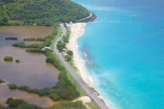 Las Antillas, el Caribe, Antigua, playa de Darkwood Foto de archivo