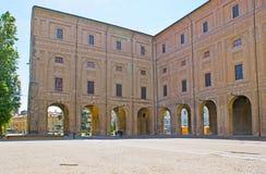 Las arcadas del palacio de Pilotta Fotografía de archivo