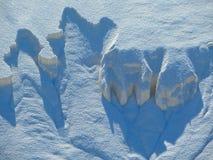 Las arenas blancas están cayendo Fotografía de archivo libre de regalías