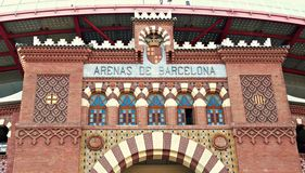 Las Arenas Shopping Mall - Barcelona, Spain. Las Arenas shopping center in Barcelona stock photos